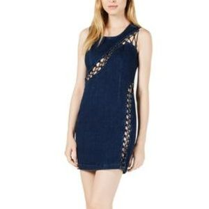 Guess | Lace-up Denim Bodycon Dress